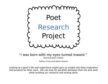 Poet Research Project & Essay (Editable)