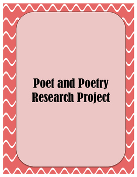 Poet and Poetry Research Project