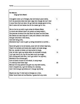 Poetic Analysis Exam