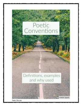 Poetic Conventions Booklet