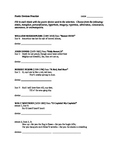 Poetic Device Practice Worksheet: lines from famous poems