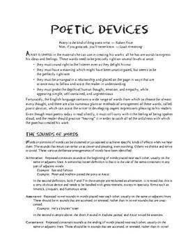 Poetic Devices