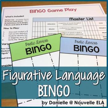 Figurative Language and Poetic Devices BINGO
