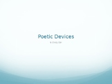 Poetic Devices - English