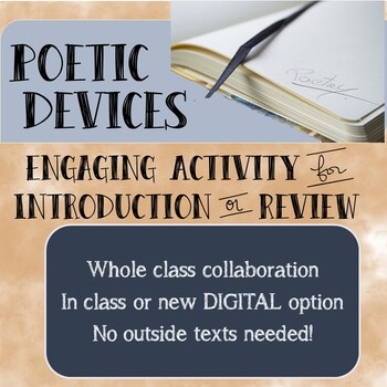 Poetic Devices Hook or Review Activity