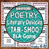 Poetic & Literary Devices Poetry Terms Tab-shoo ELA Game, Editable & Challenging