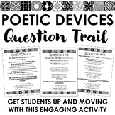 Poetic Devices Question Trail: Engaging & Kinesthetic Poet