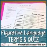 Figurative Language - Poetic Devices Terms & Quiz