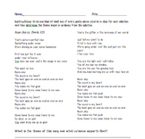 Poetic Devices Worksheet