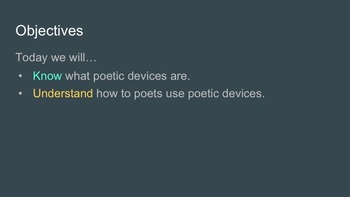 Poetic Devices: an introduction