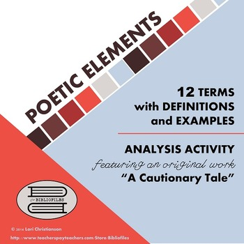 Poetic Elements and Analysis Activity featuring an Original Poem