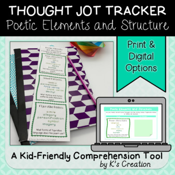 Reading Response: Poetic Elements and Structure - A Comprehension Tracker