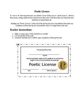 Poetic Licenses