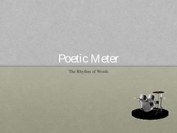 Poetic Meter