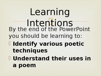 Poetic Techniques