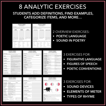 Poetic Terms Handout: Classification Activity & Handy Reference