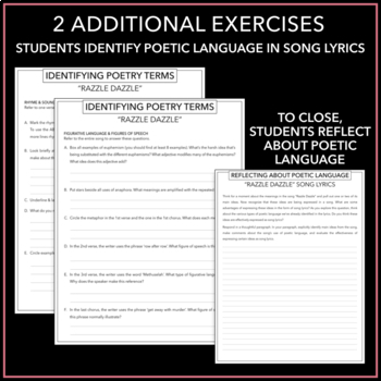 Poetic Terms: Handout with Definition & Categorizing Activities