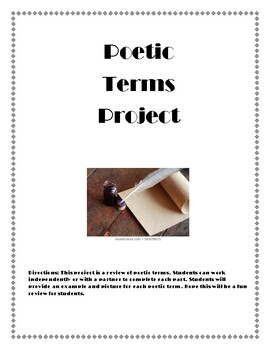 Poetic Terms Review