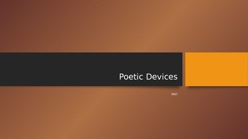 Poetic deices Powepoint