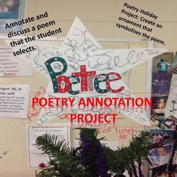 """Poetry Christmas """"Poetree"""" Project"""
