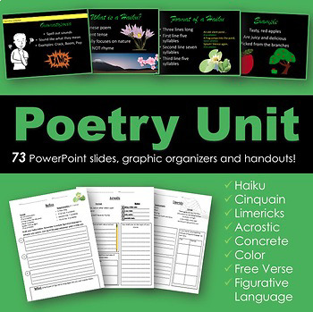 Poetry Unit with Figurative Language for poetry writing