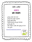 Poetry! A writing unit for k,1st or 2nd