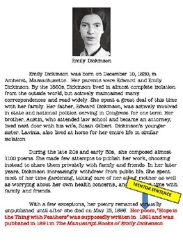 Poetry - Emily Dickinson