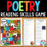 Poetry Task Cards Game {Elements of Poetry and Poetry Comprehension}