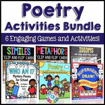 Poetry Activities Bundle (Similes, Metaphors, Idioms, & Poetry Comprehension)