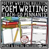 Poetry Writing Templates Activity Teach- Go Pennants Poem Writing Bulletin Board