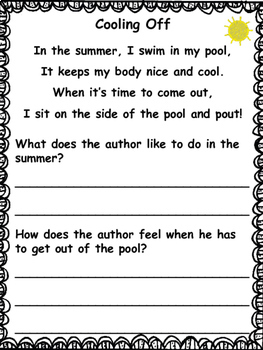 Poetry for 1rst and 2nd Grade