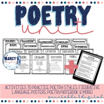 Poetry Activities 4th grade and 5th