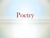 ELA Poetry (power-point user-friendly presentation)