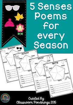 Poetry- 5 Senses Poems for all Seasons