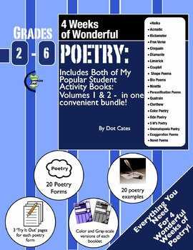 Poetry: A 4-Week Unit Featuring 20 Poetry Forms! Gr. 2-6 Student Activity Book