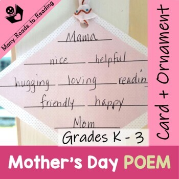 Poetry: A Diamante for Mother's Day