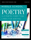 Poetry A-Z - Poetic Forms for Writing (Middle School)