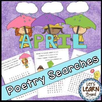 April Poetry, Word Searches, Spring Theme, With Original Poetry