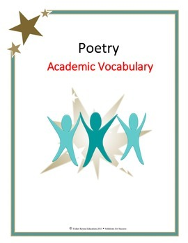 Poetry Academic Vocabulary for Reading and Writing