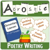 Acrostic Poem | Poetry | Elementary Learners | 1st - 2nd Grade