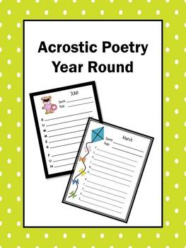 writing Poetry Acrostics