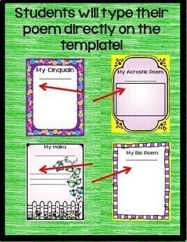 Poetry Digital Interactive Notebook Activities for Google Drive
