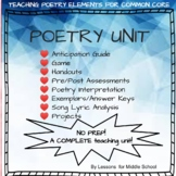 6 weeks of Poetry Activities - Common Core Aligned for Grades 5+
