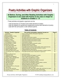Poetry Activities with 30 Ready-to-Use Graphic Organizers