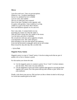 Poetry Activities/Stations for Poem in your Pocket Day