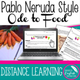 Poetry Activity Pablo Neruda Style Ode to Food Digital (Di