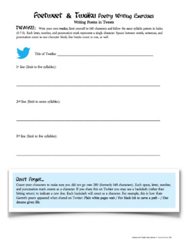 Free Download Poetry Activity Twitter-Style: Writing a Poetweet or Twaiku