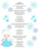 "Poetry Activity Using ""Let It Go"" from Disney's Frozen"