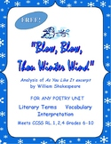 """Shakespeare for Any Poetry Unit or As You Like It """"Blow Winter Wind"""""""