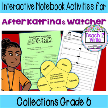 Poetry: After Katrina & Watcher Interactive Notebook ELA HMH Collections 3 Gr. 6